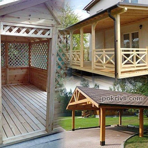 Дерев'яні споруди - виготовлення, монтаж, влаштування