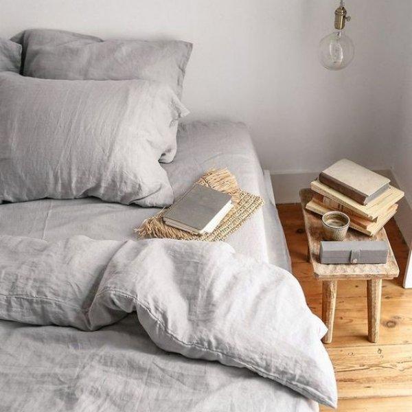 Комплект постельного белья евро лен 220 х 200