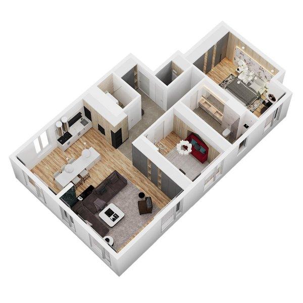 Видовая квартира бизнес-класса от собственника. ЖК Камертон центр