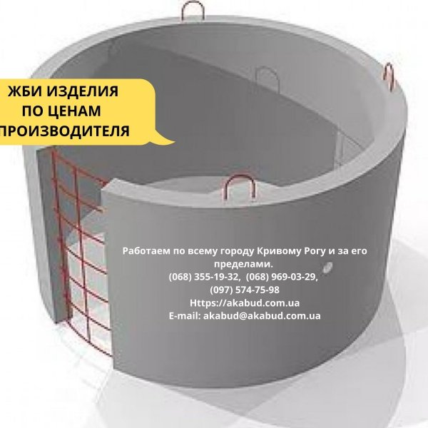 Кольца для колодцев и выгребных ям (крышки, днища)